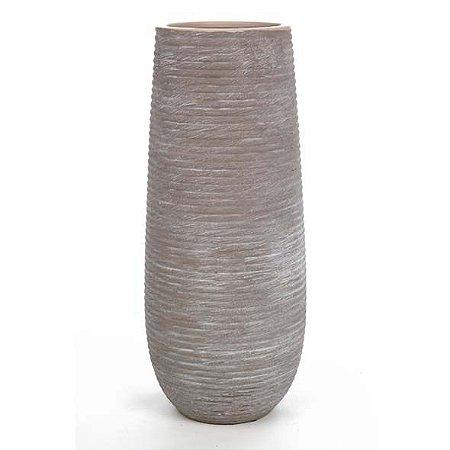 Vaso Cerâmica Stripe Marrom 14X36CM
