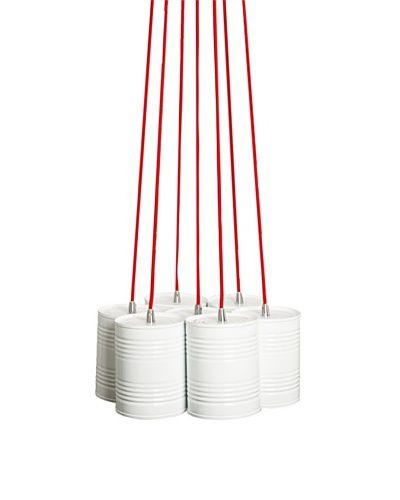 Luminária Teto Metal 7 Lâmpadas Justa Married Branco