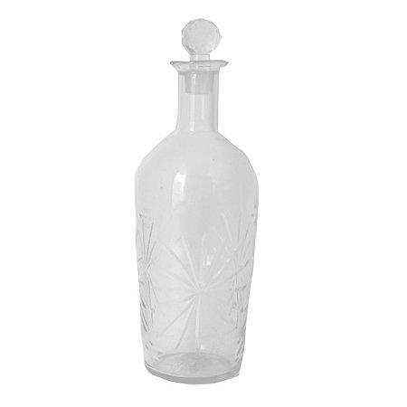 Garrafa Decorativa em Vidro Transparente 10CM X 34,5CM