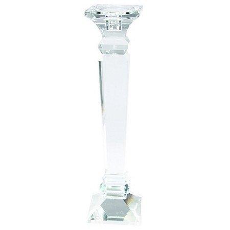 Castiçal Decorativo em Cristal Transparente 8X32CM