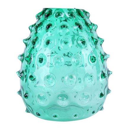 Vaso Decorativo com Vidro Verde 17X20CM