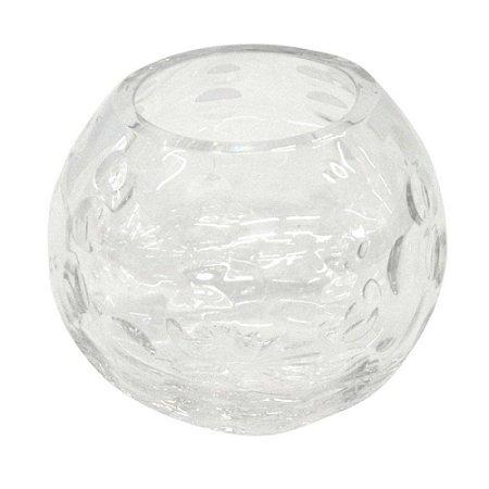 Vaso Decorativo em Vidro Transparente 11X10CM