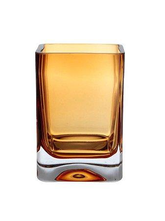 Vaso de Vidro Âmbar 15X10,5X5CM
