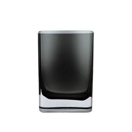 Vaso de Vidro Cinza 10,5X15X5CM