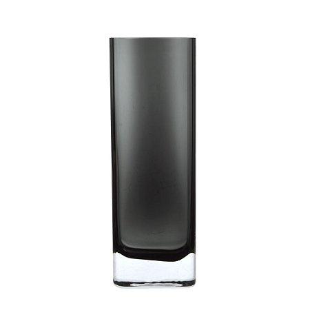 Vaso de Vidro Alto Cinza 10,5X30X5CM