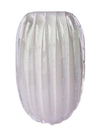 Vaso Cristal Murano Cinza 15x23x9cm