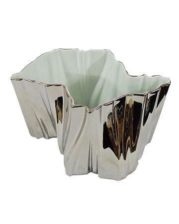 Vaso de Porcelana SP Prata