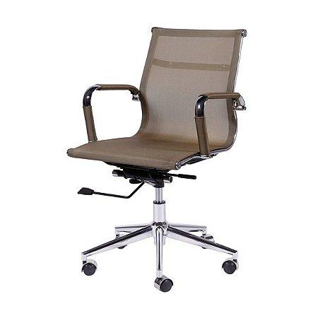 Cadeira de Escritório Giratório Tela Mesh Baixa