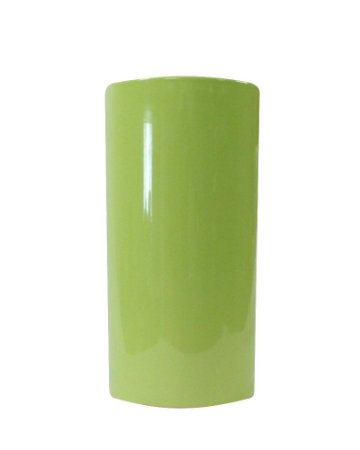 Vaso de Cerâmica Redondo Verde Liso 17x33cm