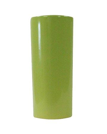 Vaso Redondo de Cerâmica Verde Liso Pequeno 11x25cm