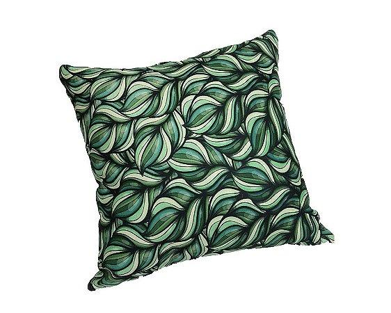 Almofada de Tecido Verde Estampa Folhas 50X50cm