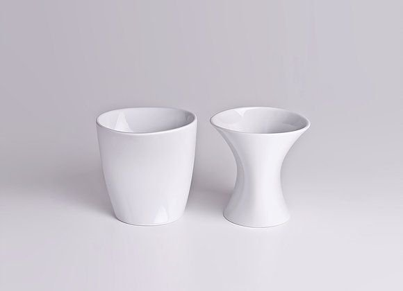 Vaso de Porcelana Optico P2 Branco13cm