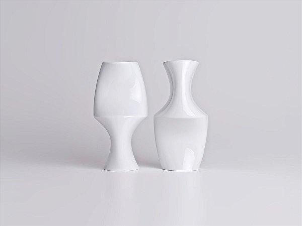 Vaso de Porcelana Optico M3 Branco 26cm