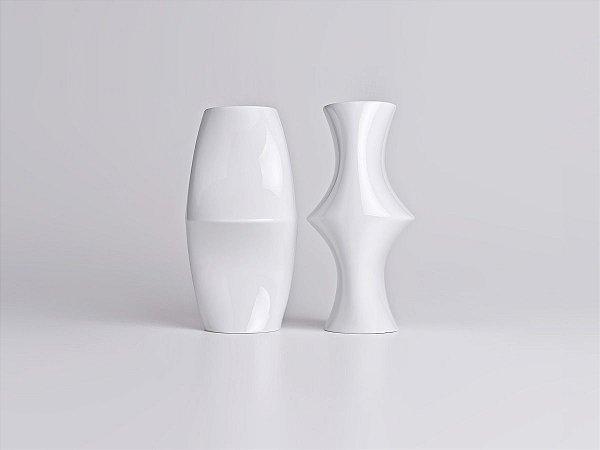 Vaso de Porcelana Optico M2 Branco 26cm