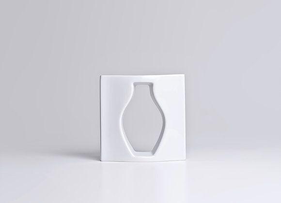 Vaso de Porcelana Vazio P Branco 17cm