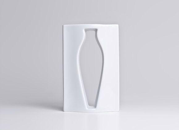Vaso de Porcelana Vazio G Branco 26cm