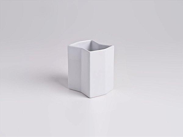 Vaso de Porcelana Torre P Branco 13cm