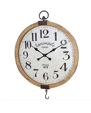 Relógio Redondo de Parede Balança 75cm