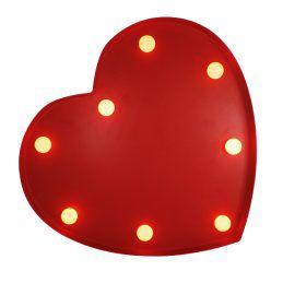 Coração Luminoso Fechado Vermelho