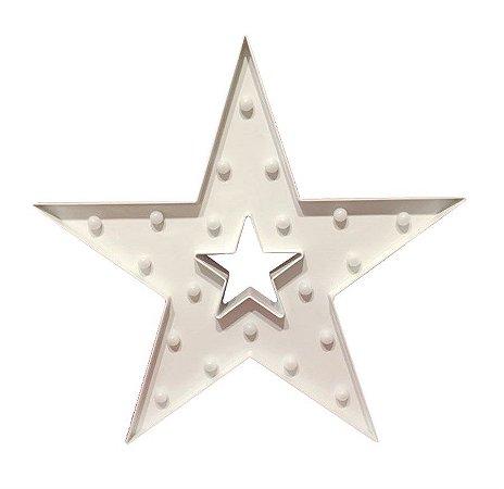 Estrela Vazada Luminosa Branca