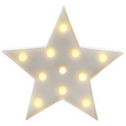 Estrela Luminosa Fechada Branca