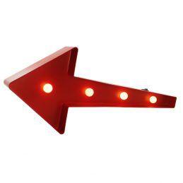 Luminária Seta com Leds Vermelho
