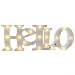 Luminária Hello com Leds Branco