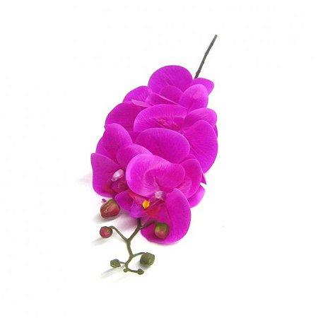 Haste de Orquidea Artificial Rosa 90cm