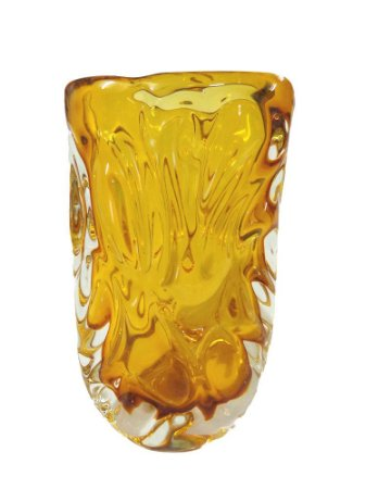 Vaso de Cristal Oval Ambar 30cm