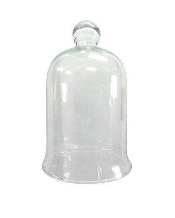 Redoma de Vidro Transparente 13x22cm