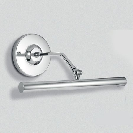 Arandela Tubular em Metal Cromado Calha 31cm