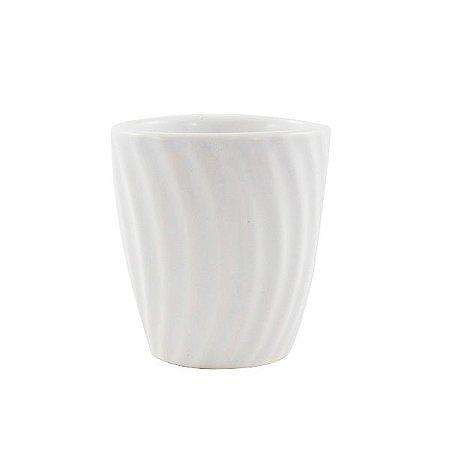 Mini Vaso de Cerâmica Redondo com Relevo 7cm