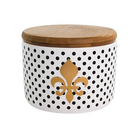 Pote de Cerâmica Poa Flor de Liza 10cm