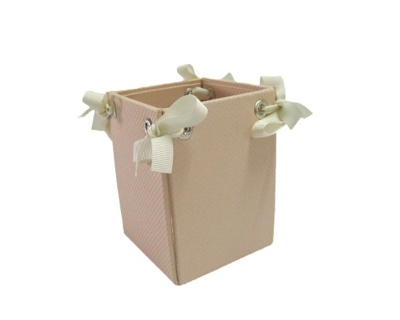 Caixa Pote Rosa Bolinhas 8x10cm