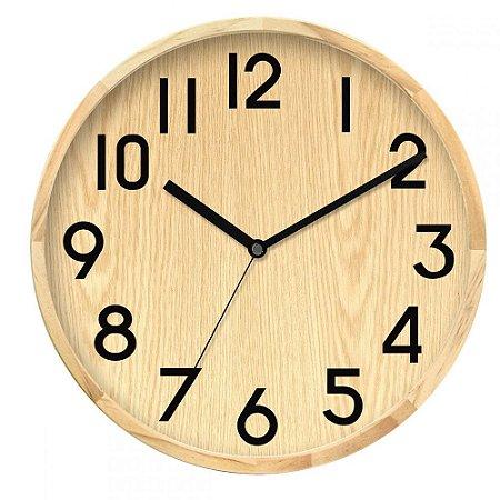 Relógio de Parede em Madeira 30cm