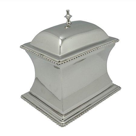 Caixa Decorativa em Prata 20x21x15cm