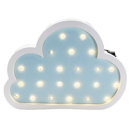 Nuvem Luminosa Azul e Branco MDF 27cm