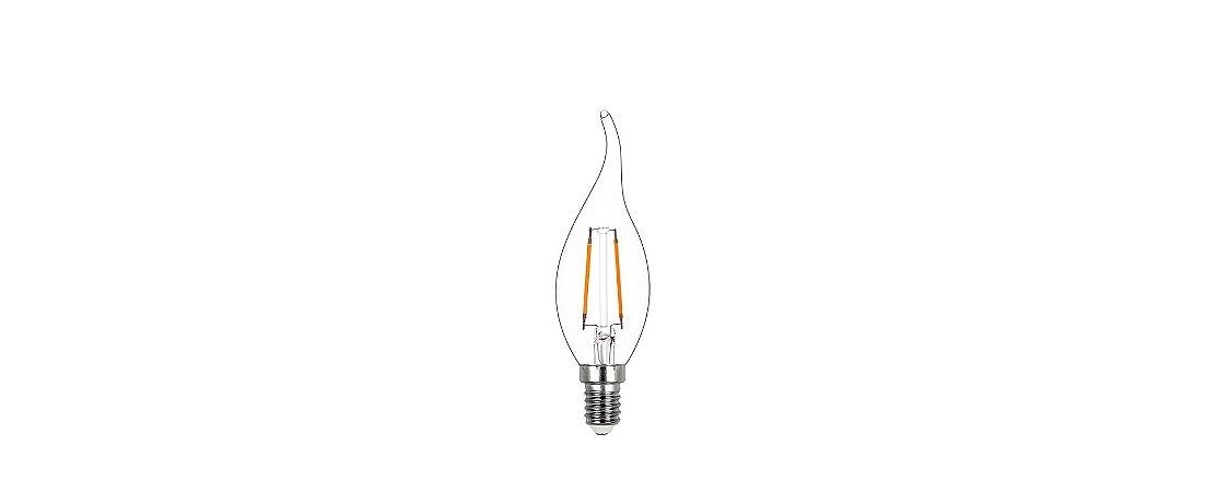 Lâmpada LED Vela Chama Filamento 2W 200LM E14 2400K