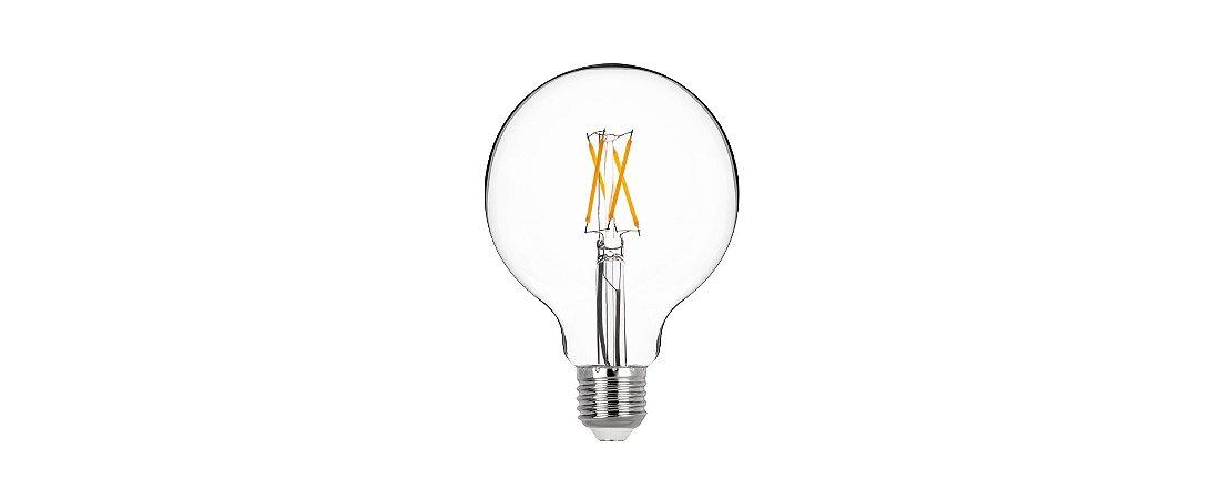 Lâmpada LED Bulbo Filamento 4W 400LM E27 2700K