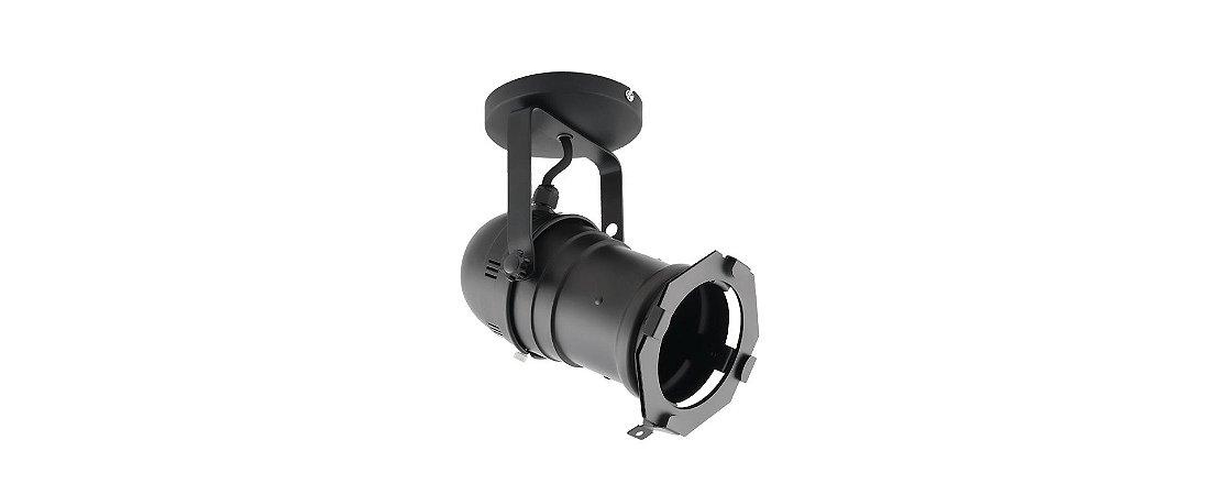 Spot Cênico PAR20/PAR30 E27 Preto com Canopla