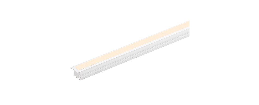 Perfil de Embutir Linie 2m 24W com Fita FULL LED 24V IRC 90 Integrada