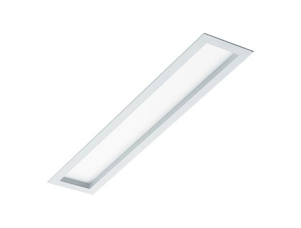 Luminária de Embutir Retangular 2xT8 de 60cm Recuado
