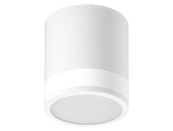 Luminária de Sobrepor Redonda 12cm 1xE27 Visor Lateral.