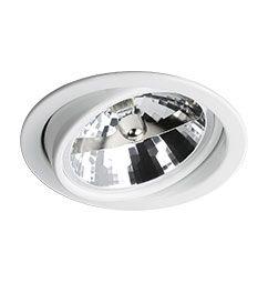 Spot Embutido Circular Direcionável para Lâmpada AR111