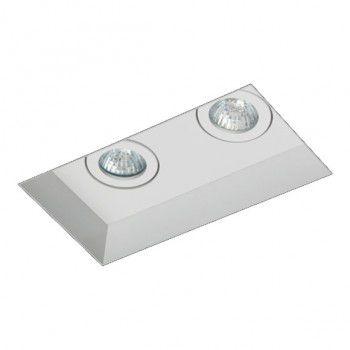 Luminária de Embutir Foco Duplo Direcional 8,2x16cm GU10