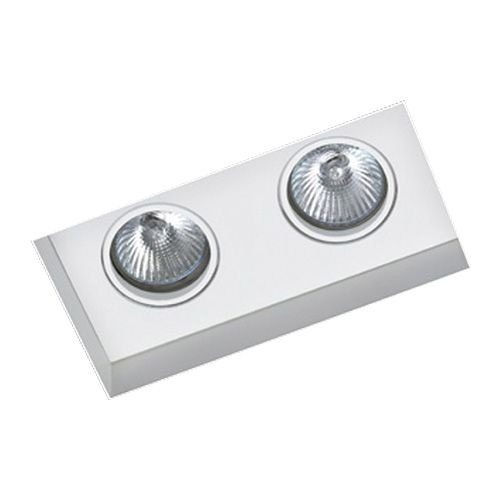 Luminária de Embutir Foco Duplo Direcional 9x18cm GU10