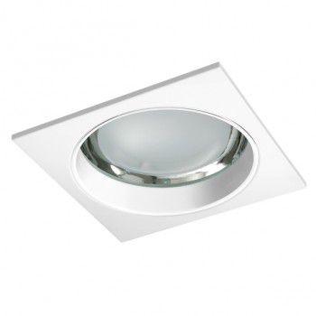 Luminária de Embutir Vidro Recuado 22x22cm