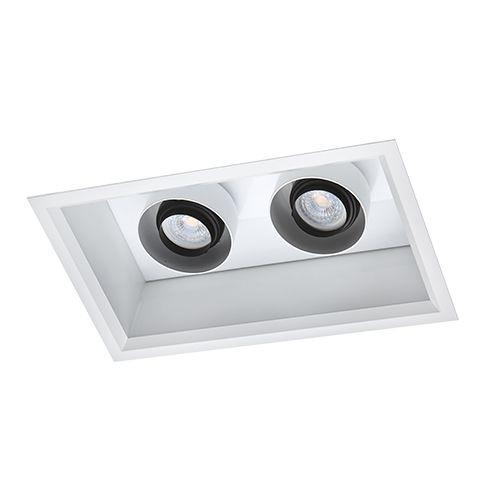 Luminária Retangular Embutir 18,5x30,5cm 2700K Duplo Acendimento
