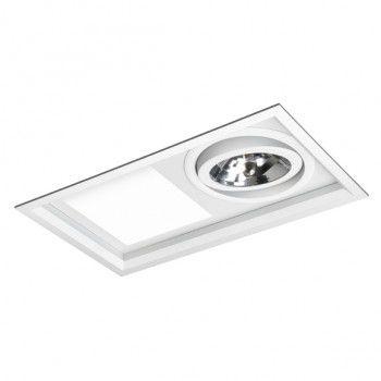 Luminária Retangular Embutir Híbrida 19x34,5cm E27