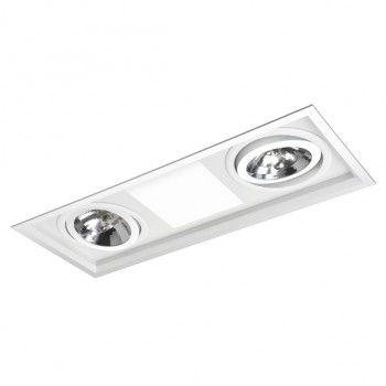 Luminária Retangular Embutir Híbrida 19x50cm E27